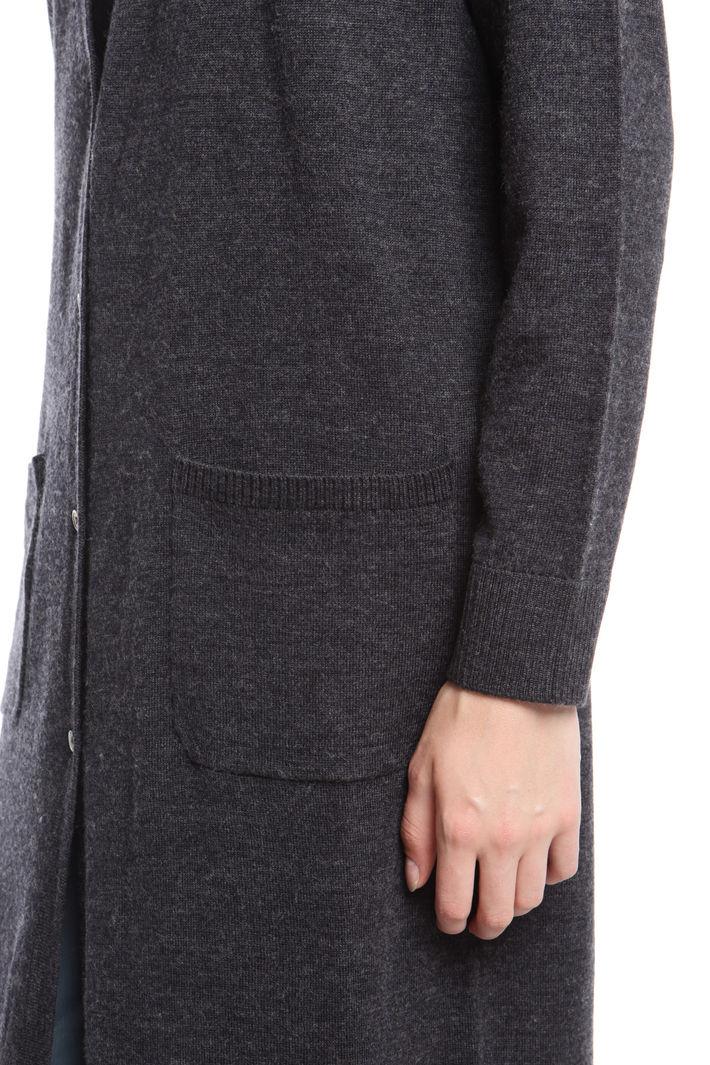 Cardigan lungo in lana vergine Diffusione Tessile