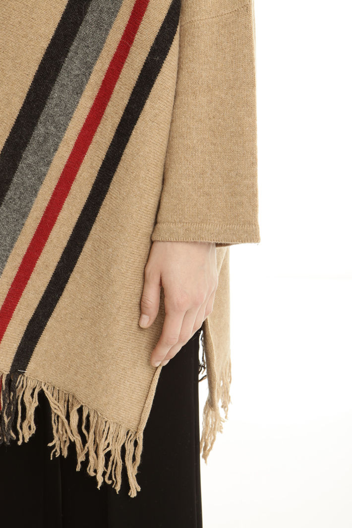 Poncho in misto alpaca Fashion Market