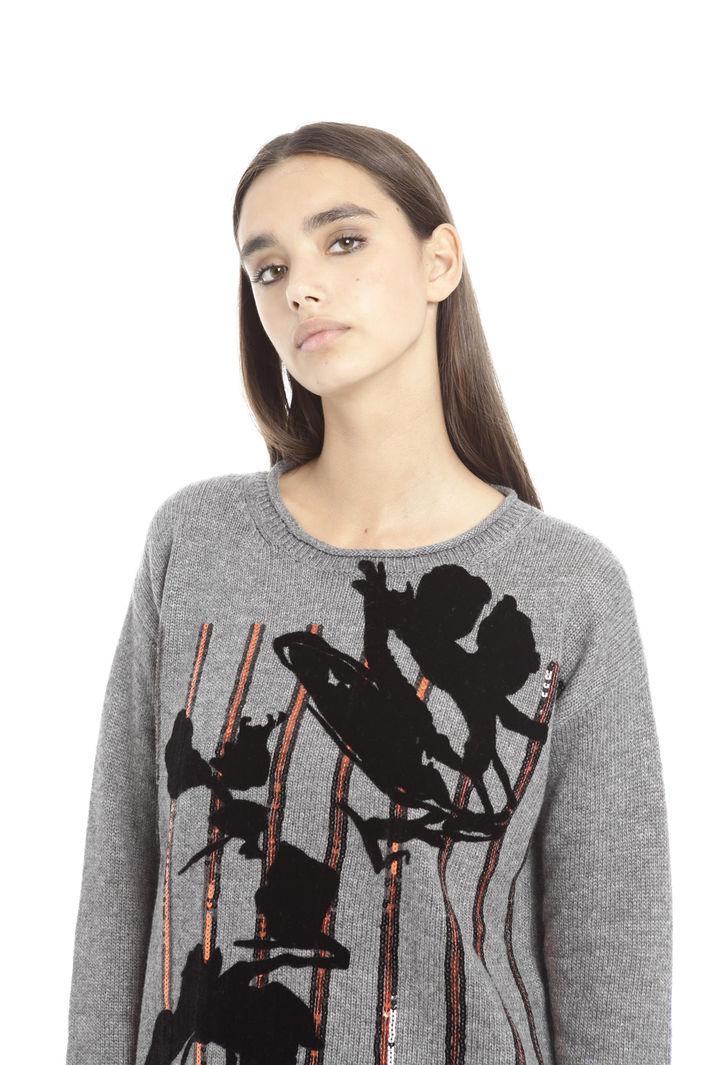 Maglia con stampa floccata Fashion Market