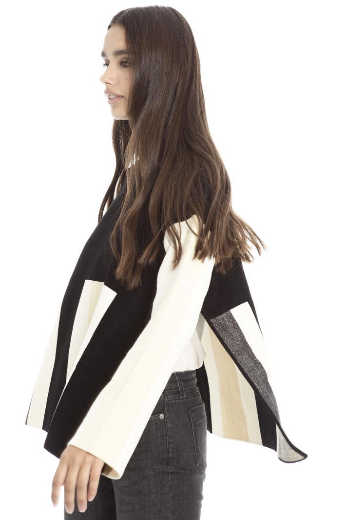 Pullover boxy con spacchi Diffusione Tessile