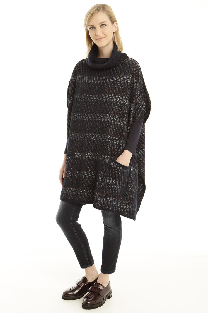 Poncho over in lana e alpca Fashion Market