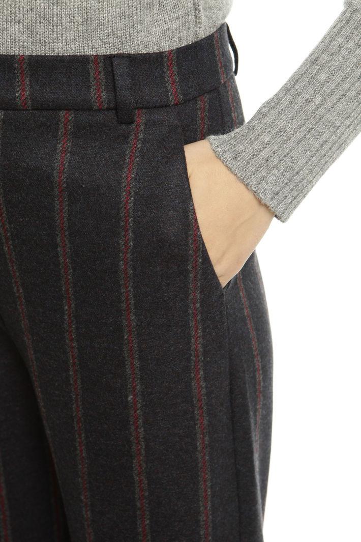 Pantaloni cropped a righe Diffusione Tessile