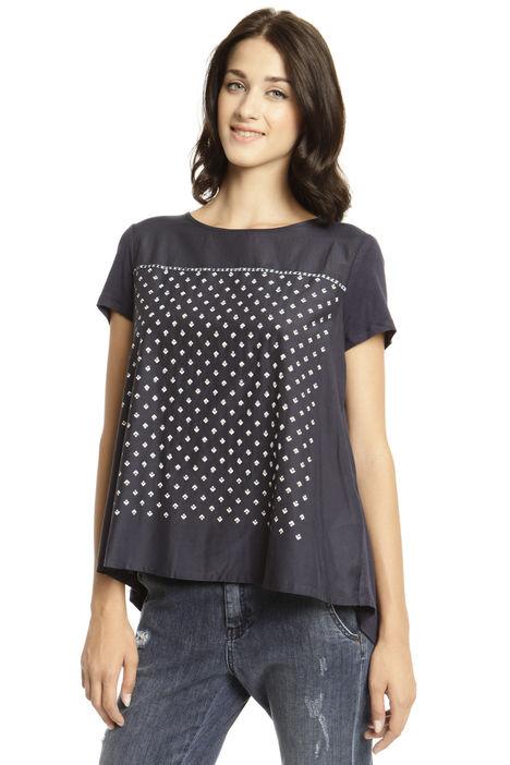 T-shirt con microperline Diffusione Tessile