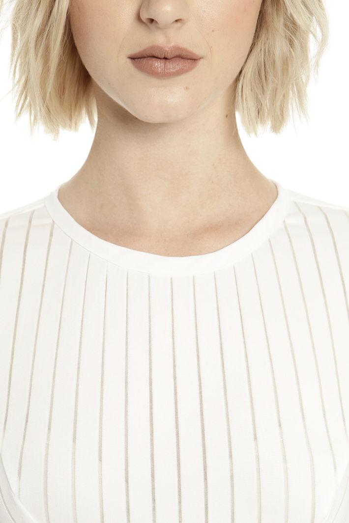 Top con righe in trasparenza Fashion Market
