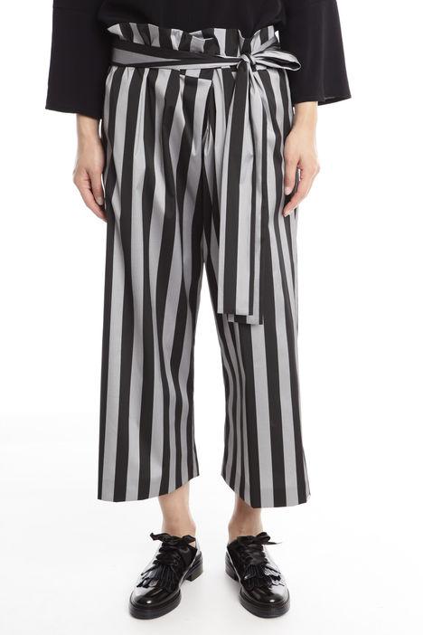 Pantaloni cropped in taffetà Diffusione Tessile