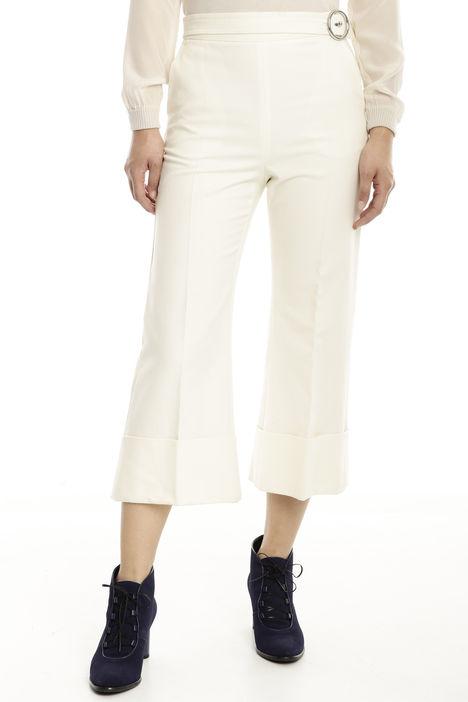 Pantalone cropped in cotone stretch Diffusione Tessile