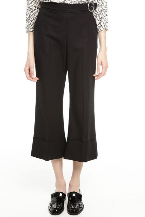 Pantalone cropped in cotone stretch Intrend