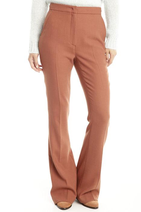 Pantalone a zampa in crepe Diffusione Tessile