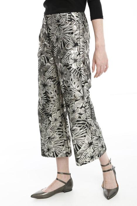 Pantalone cropped jacquard lurex Diffusione Tessile