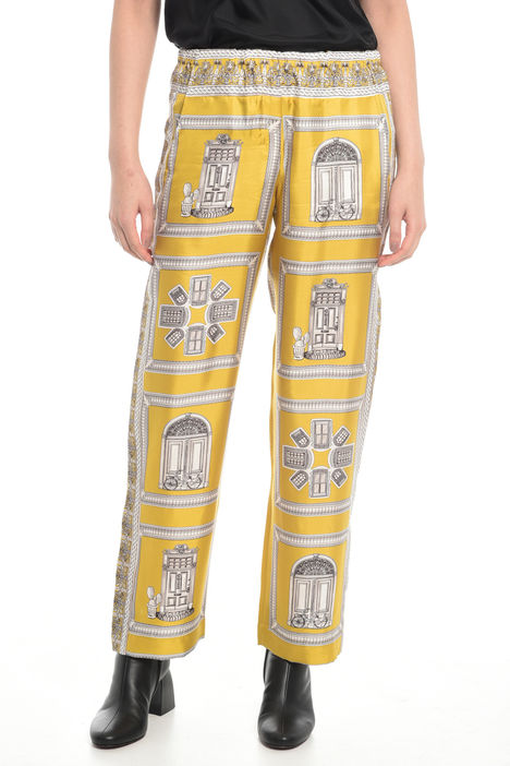 Pantaloni ampi in twill Diffusione Tessile