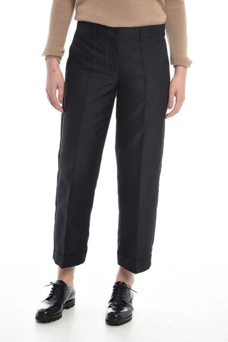 Pantalone cropped in tessuto jacquard Diffusione Tessile