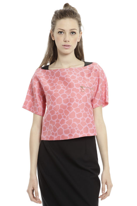 Top in douchesse jacquard Diffusione Tessile