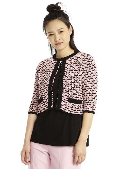 Cardigan in maglia di cotone Diffusione Tessile