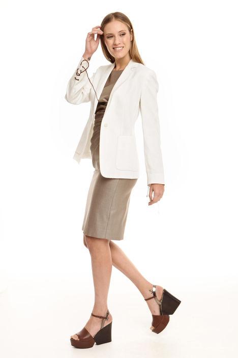 Giacca blazer in tela di lino Diffusione Tessile