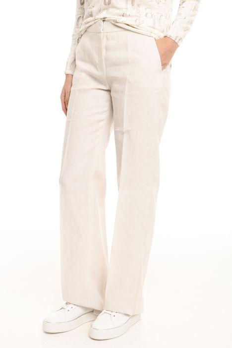 Pantalone in tela di puro lino Diffusione Tessile
