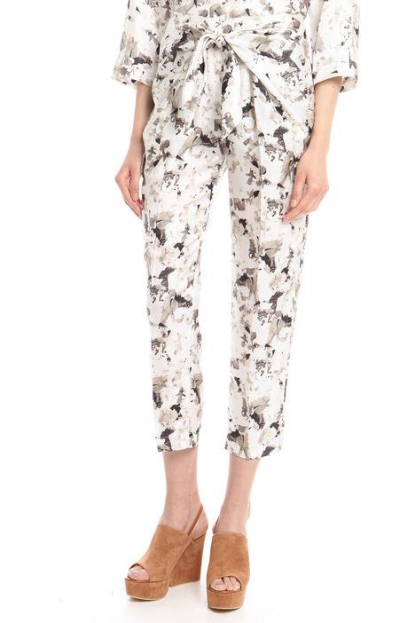 Pantalone con nodo a decoro Diffusione Tessile