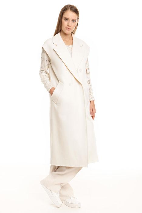 Cappotto smanicato in lana Diffusione Tessile