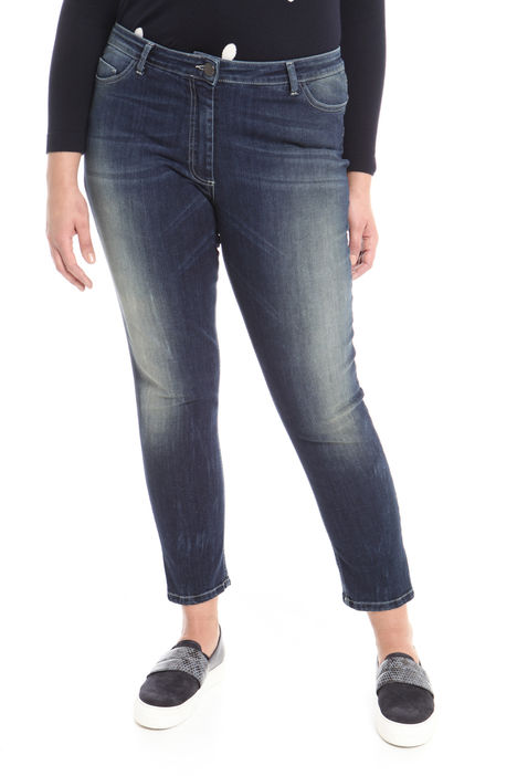 Jeans cropped in denim stretch Diffusione Tessile