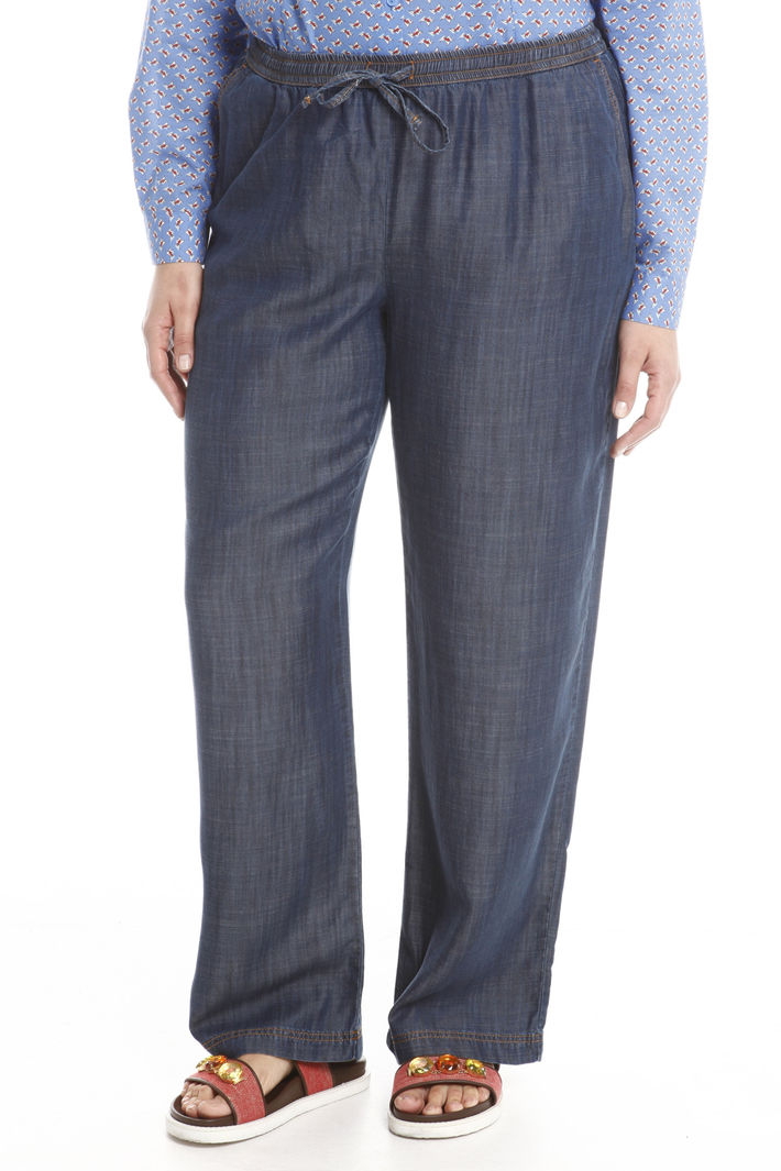 Pantalone denim con coulisse Intrend