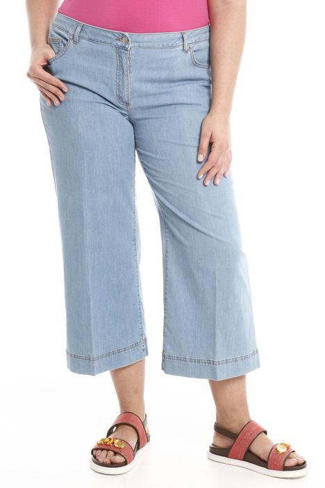 Jeans cropped in denim leggero Diffusione Tessile