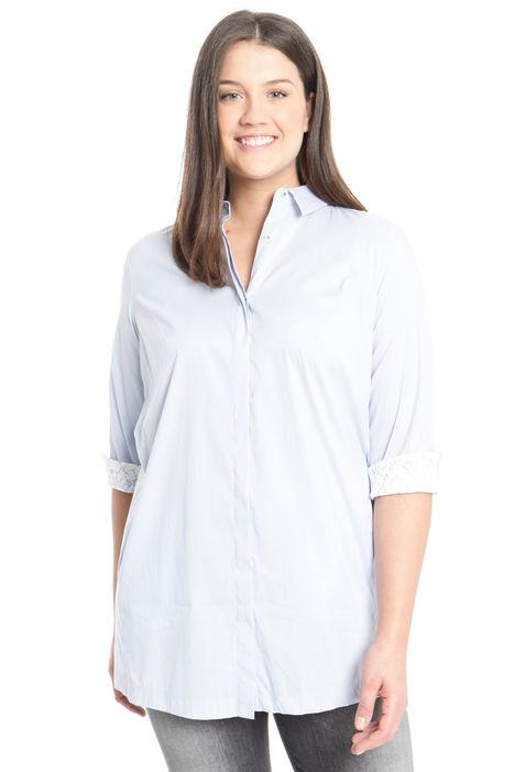 Camicia in cotone con pizzo Diffusione Tessile