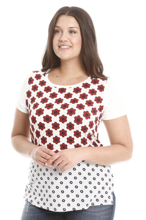 T-shirt in viscosa stampata Diffusione Tessile