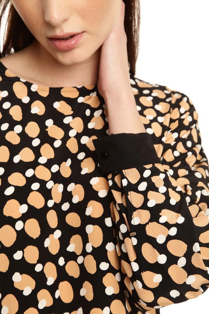 Blusa over in crepe di seta Diffusione Tessile