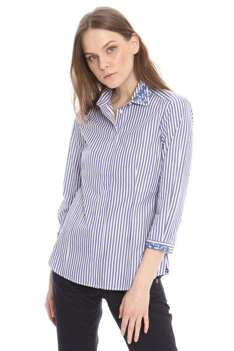 Camicia con ricamo su colletto Diffusione Tessile