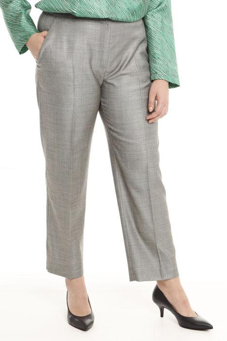 Pantalone in lana tinto filo Intrend