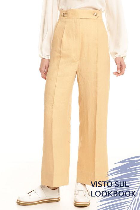 Pantalone cropped a vita alta Diffusione Tessile