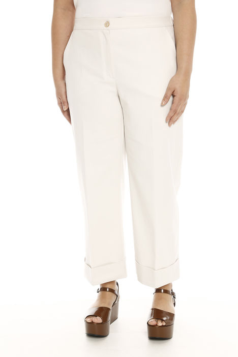 Pantalone cropped con risvolti Intrend