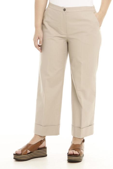 Pantalone cropped con risvolti Diffusione Tessile