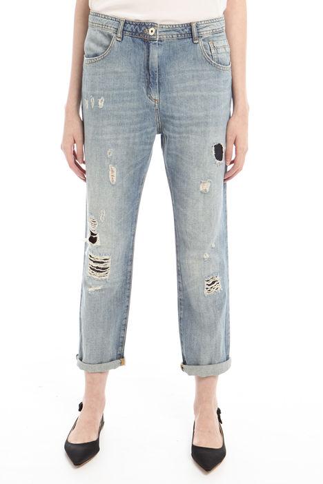 Jeans boyfriend con strappi Diffusione Tessile