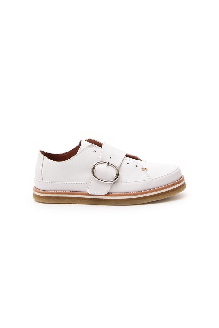 Sneaker in pelle, bianco