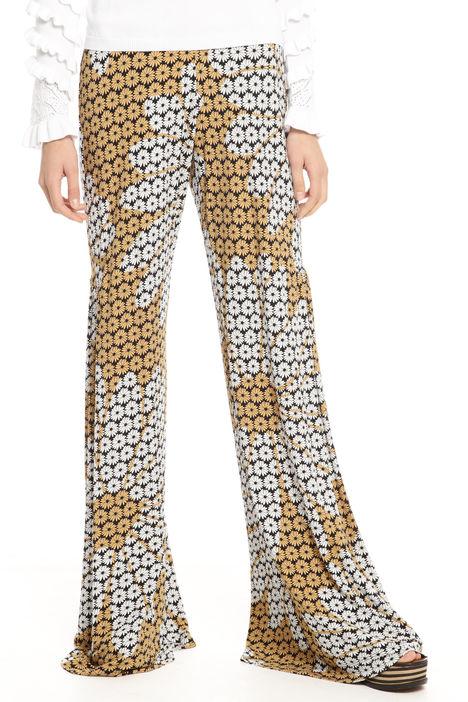 Pantalone a zampa stampato Diffusione Tessile