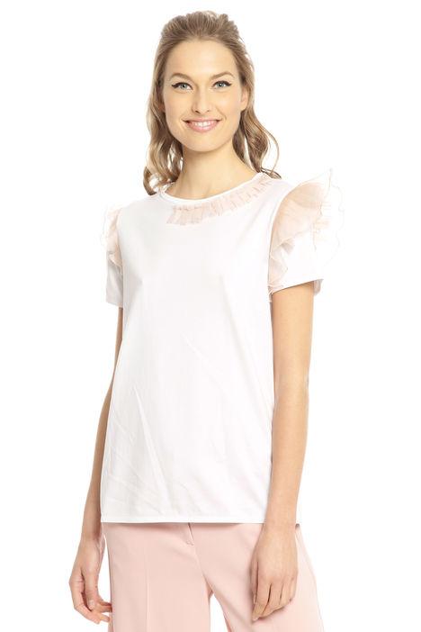 T-shirt con dettagli in tulle Diffusione Tessile