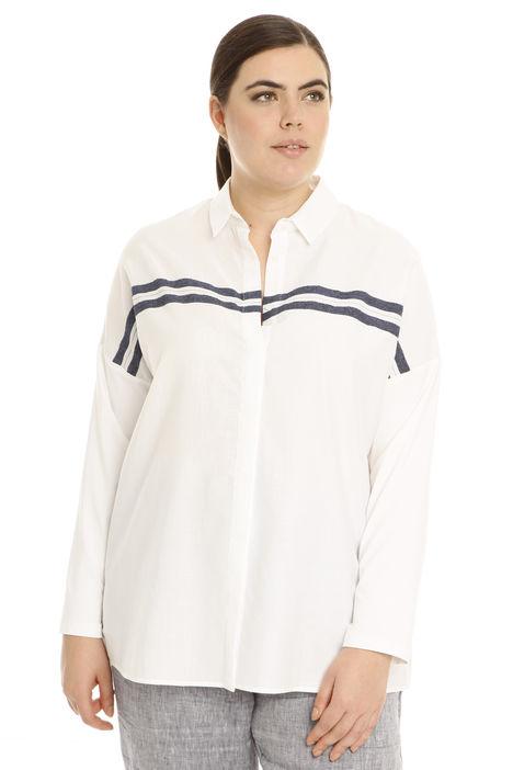 Camicia con manica jersey Intrend