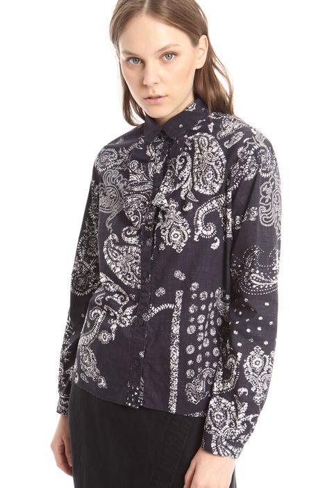 Camicia stampata con ruches Diffusione Tessile