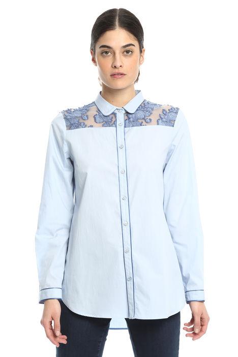 Camicia con inserti fil coupè Diffusione Tessile