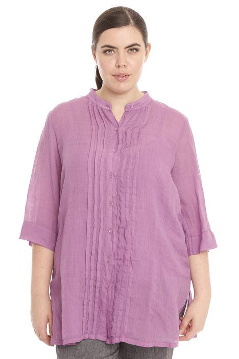 Camicia plissé in puro ramiè Intrend