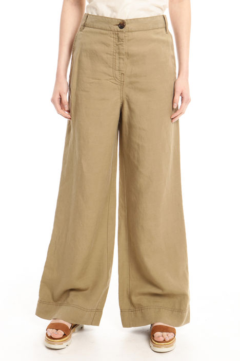 Pantalone in tela di lino Diffusione Tessile