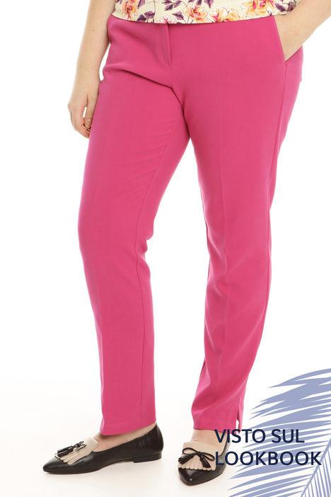 Pantaloni in cotone compatto Intrend