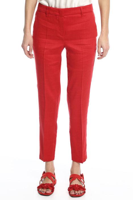 Pantalone in lino e viscosa Diffusione Tessile