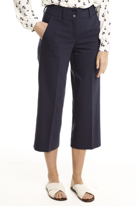 Pantaloni cropped in cotone Intrend