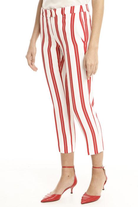 Pantaloni a righe in viscosa Intrend