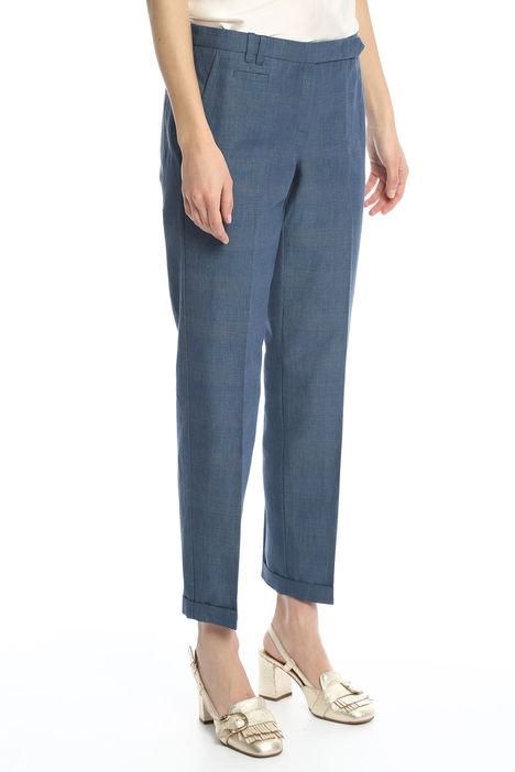 Pantalone lungo tinto filo