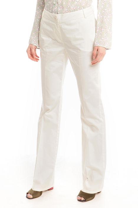Pantalone in satin di cotone Diffusione Tessile