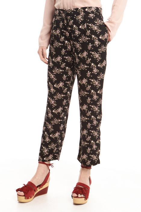 Pantaloni lunghi in georgette Intrend