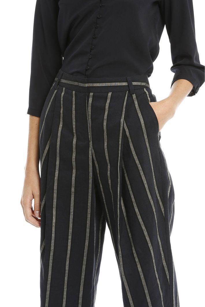 Pantaloni a righe in lino Intrend