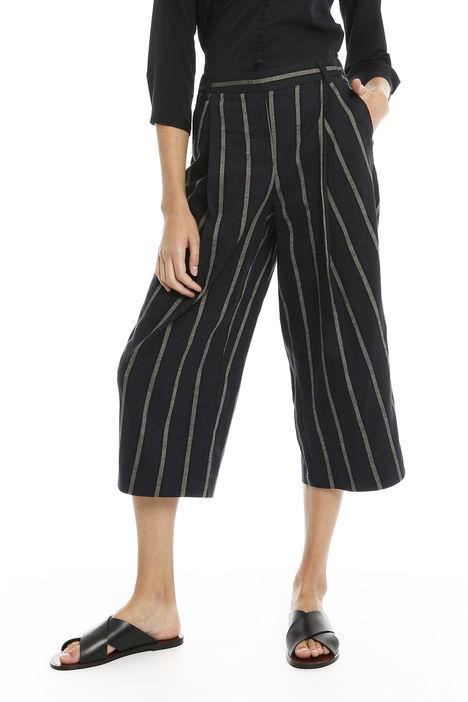 Pantaloni a righe in lino Diffusione Tessile